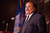 Martin Luther King III speaks at the 2016 NAN 'Keepers Of The Dream' Dinner And Awards Ceremony at the Sheraton New York Hotel Towers on April 14...