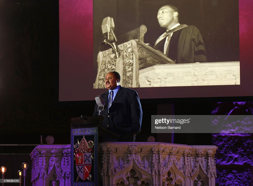 Martin Luther King III speaks onstage at Logo's 'Trailblazer Honors' 2015 at the Cathedral of St John the Divine on June 25 2015 in New York City