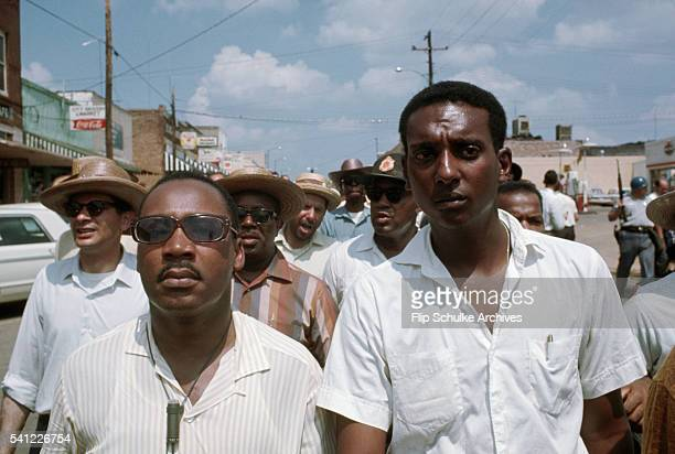 Martin Luther King Jr and Stokely Carmichael walk together as the March Against Fear walks through the town of Philadelphia The march went to...