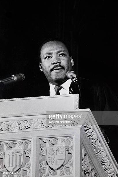Martin Luther King Jr delivers his last Sunday sermon at the National Cathedral in Washington DC 31st March 1968 He was assassinated four days later