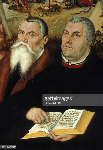 Martin Luther Reformation Luther Martin *1011148318021546 Reformator Germany with Lucas Cranach the Elder middle panel of the altar in the City...
