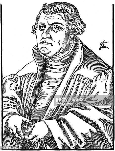 Martin Luthor German Protestant reformer 1546 After woodcut by Cranach