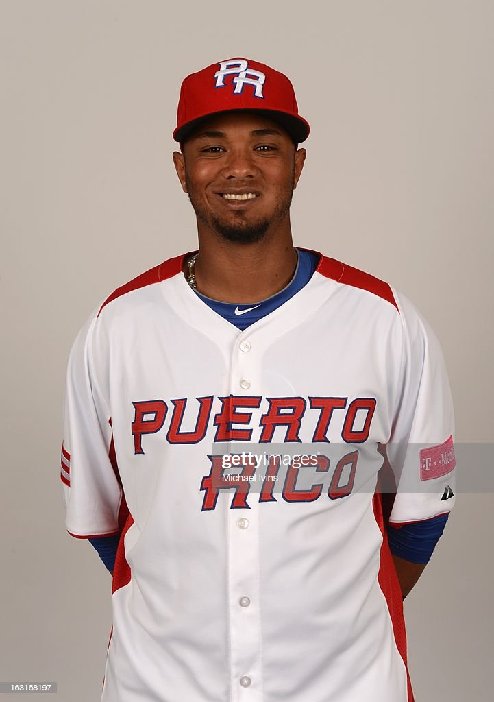 Martin Maldonado #24 of Team Puerto Rico poses for a headshot for the 2013 World Baseball Classic at the City of Palms Baseball Complex on Monday, March 4, 2013 in Fort Myers, Florida.
