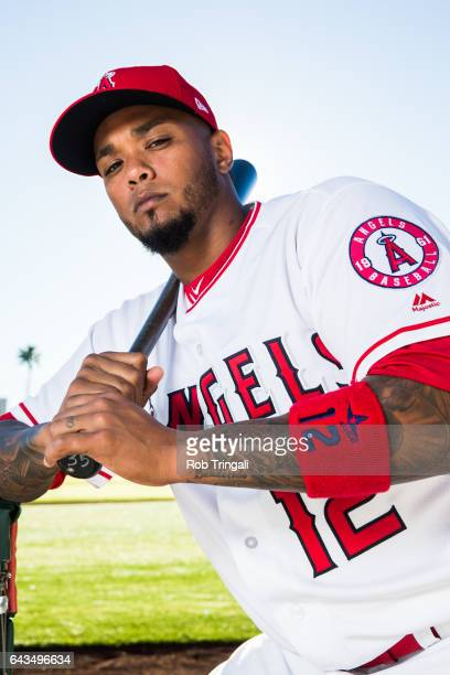Martin Maldonado of the Los Angeles Angels of Anaheim poses for a portrait during Angels Photo Day at Tempe Diablo Stadium on February 21 2017 in...