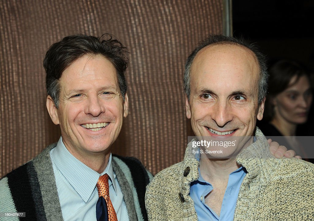 Martin Moran and Seth Barrish attend 'All The Rage' Opening Night on January 30, 2013 in New York, United States.