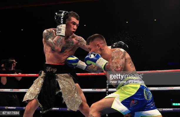 Martin Murray in action against Gabriel Rosado during their WBA InterContinental Middleweight Title at Liverpool Echo Arena