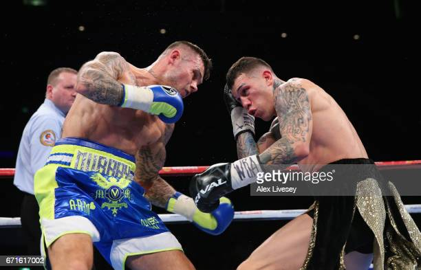Martin Murray lands a left shot on Gabriel Rosado during the WBA InterContinental Middleweight title fight between Martin Murray and Gabriel Rosado...