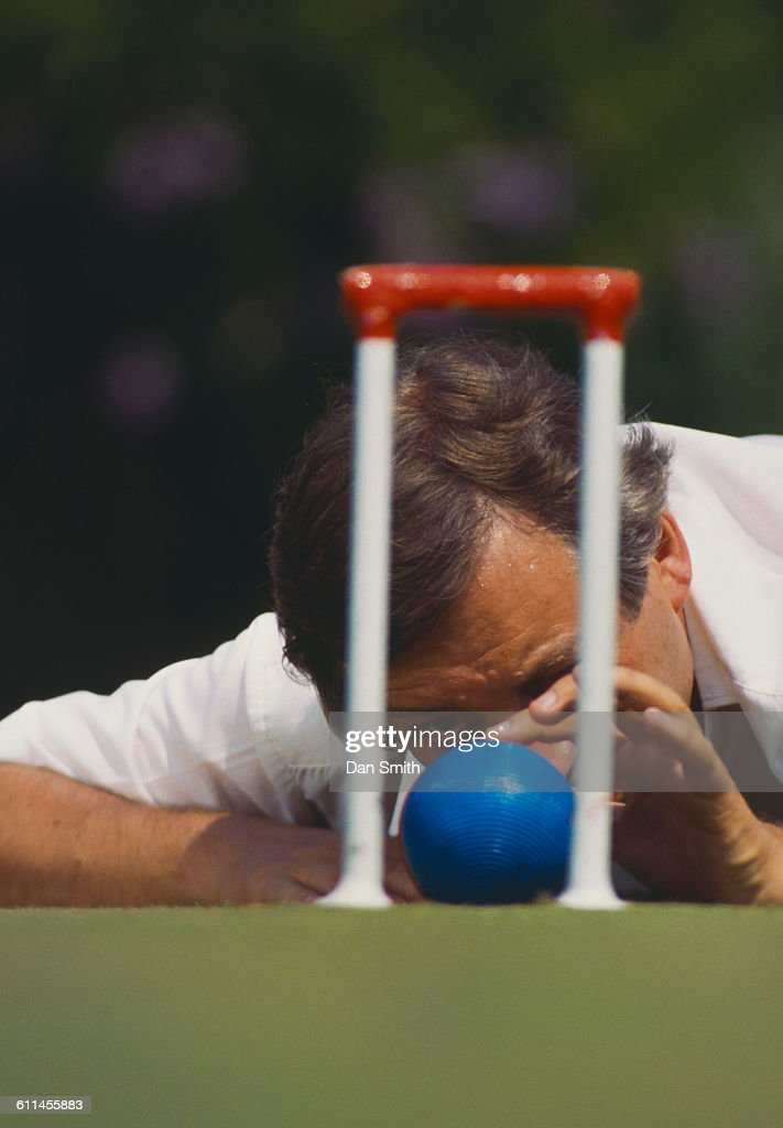 Martin Murray of Great Britain during the first Association Croquet World Championship on 1 September 1989 at the Hurlingham Club in London, England, United Kingdom.