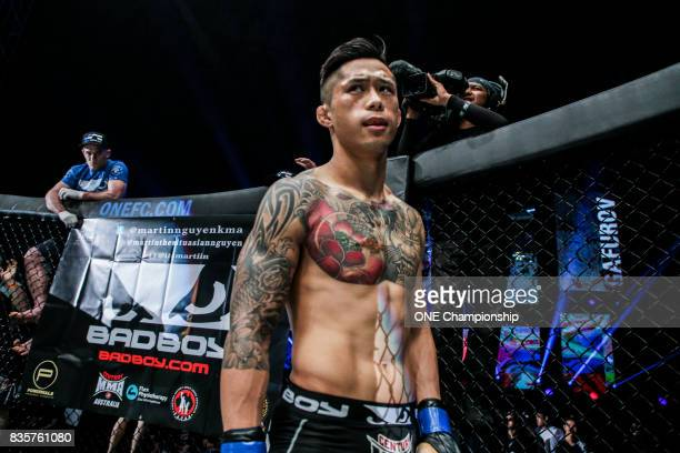 Martin Nguyen prepares for his main event title bout against ONE Featherweight World Champion Marat Gafurov during ONE Championship Quest For...