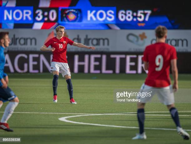 Martin Odegaard Birk Risa of Norway during the Qualifying Round European Under 21 Championship 2019 between Norway v Kosovo at Ullevaal Stadion on...