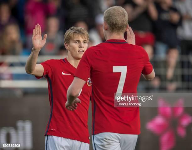 Martin Odegaard Henrik Bjordal of Norway during the Qualifying Round European Under 21 Championship 2019 between Norway v Kosovo at Ullevaal Stadion...
