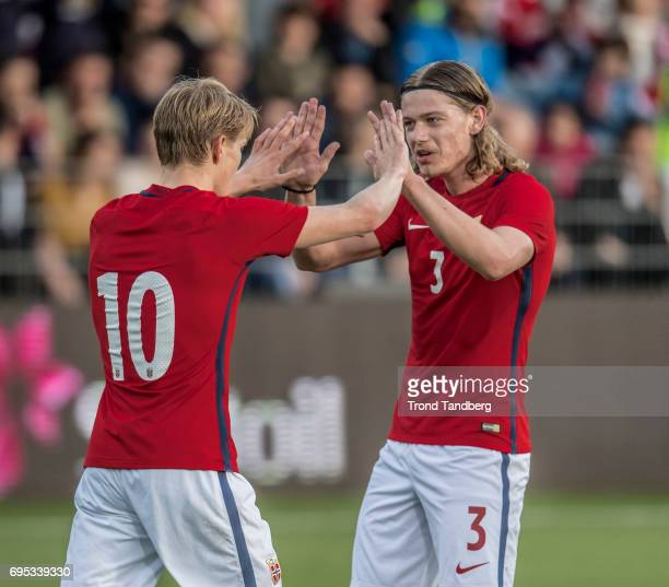 Martin Odegaard Julian Ryerson of Norway during the Qualifying Round European Under 21 Championship 2019 between Norway v Kosovo at Ullevaal Stadion...