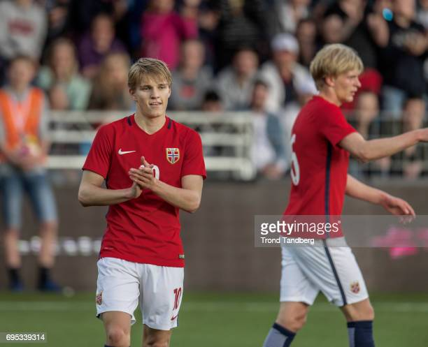 Martin Odegaard Morten Thorsby of Norway during the Qualifying Round European Under 21 Championship 2019 between Norway v Kosovo at Ullevaal Stadion...