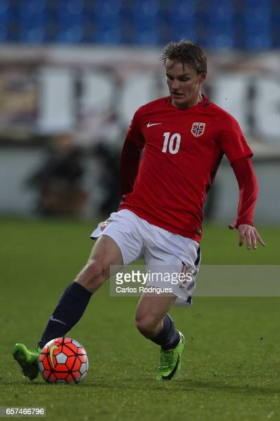 Martin Odegaard of Norway during the match between Portugal v Norway U21 International Friendly match at Estadio Antonio Coimbra da Mota on March 24...