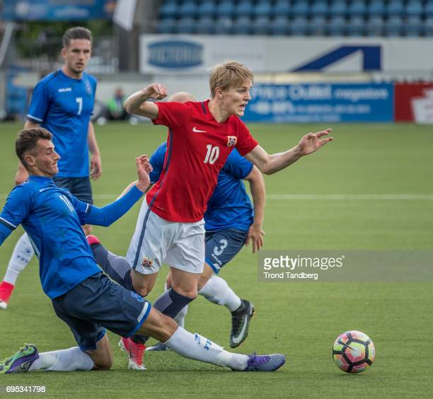 Martin Odegaard of Norway during the Qualifying Round European Under 21 Championship 2019 between Norway v Kosovo at Ullevaal Stadion on June 12 2017...
