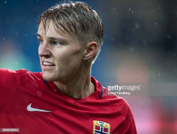 Martin Odegaard of Norway during the U21 FIFA 2018 World Cup Qualifier between Norway and Germany at Marienlyst Stadion on October 10 2017 in Drammen