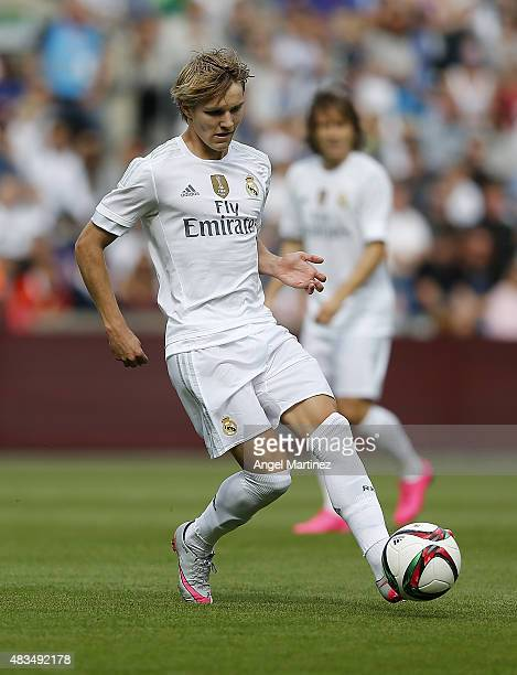 Martin Odegaard of Real Madrid in action during the preseason friendly match between Valerenga and Real Madrid at Ullevaal Stadion on August 9 2015...