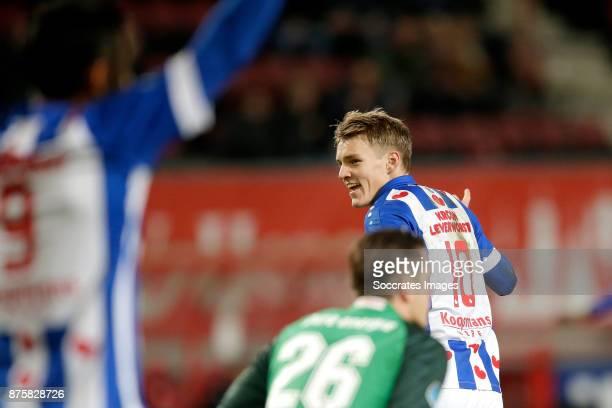 Martin Odegaard of SC Heerenveen celebrates 03 during the Dutch Eredivisie match between Fc Twente v SC Heerenveen at the De Grolsch Veste on...
