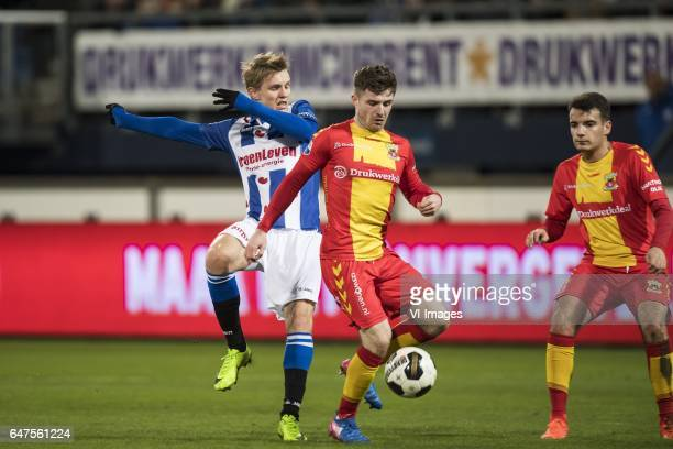 Martin Odegaard of SC Heerenveen Daniel Crowley of Go Ahead Eaglesduring the Dutch Eredivisie match between sc Heerenveen and Go Ahead Eagles at Abe...