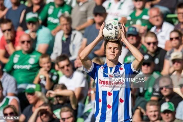 Martin Odegaard of sc Heerenveen during the Dutch Eredivisie match between FC Groningen and sc Heerenveen at Noordlease stadium on August 13 2017 in...