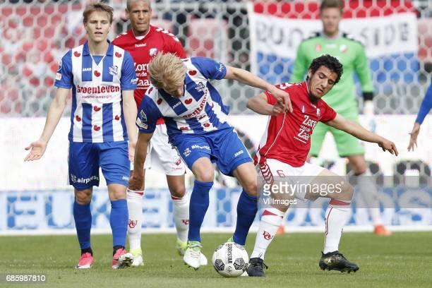 Martin Odegaard of sc Heerenveen Ramon Leeuwin of FC Utrecht Morten Thorsby of sc Heerenveen Yassin Ayoub of FC Utrecht goalkeeper David Jensen of FC...