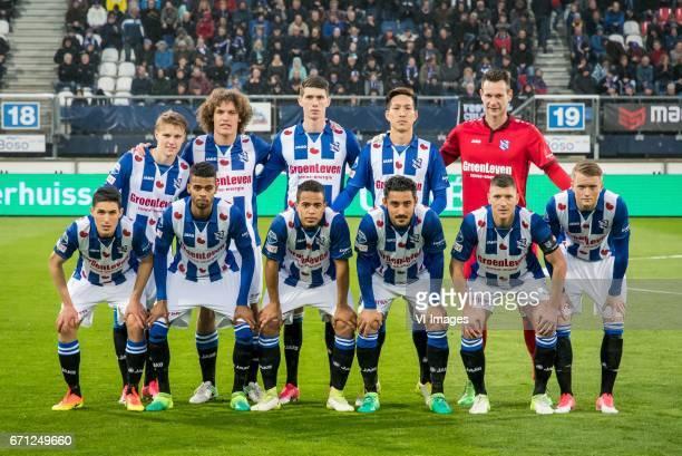 Martin Odegaard of sc Heerenveen Wout Faes of sc Heerenveen Pelle van Amersfoort of sc Heerenveen Yuki Kobayashi of sc Heerenveen goalkeeper Erwin...