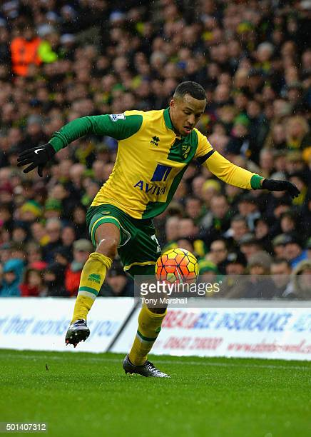 Martin Olsson of Norwich City during the Barclays Premier League match between Norwich City and Everton at Carrow Road on December 12 2015 in Norwich...