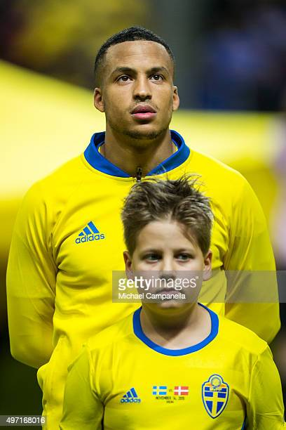 Martin Olsson of Sweden looks on during the European Qualifier PlayOff between Sweden and Denmark on November 14 2015 in Solna Sweden