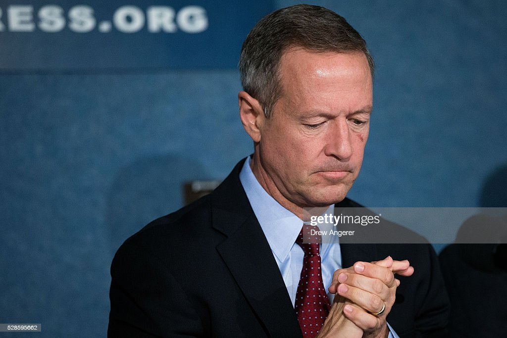 <a gi-track='captionPersonalityLinkClicked' href=/galleries/search?phrase=Martin+O%27Malley&family=editorial&specificpeople=653318 ng-click='$event.stopPropagation()'>Martin O'Malley</a> (D-MD), former Maryland governor and former 2016 presidential hopeful, pauses during panel discussion at the National Press Club, May 6, 2016, in Washington, DC. The panel, titled 'Words Matter: the U.S. Debate over Immigration, the Media, and the 2016 Election,' was organized by the American Bar Association.