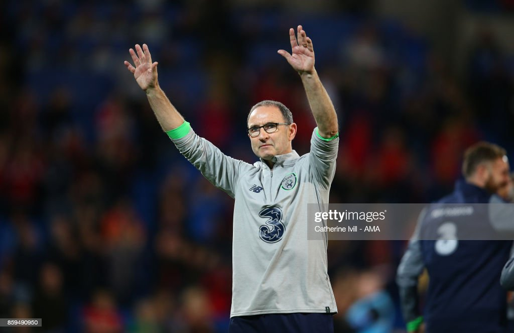 9c8b1e379 ... Martin ONeill manager of Republic of Ireland celebrates after the FIFA  2018 World Cup ...