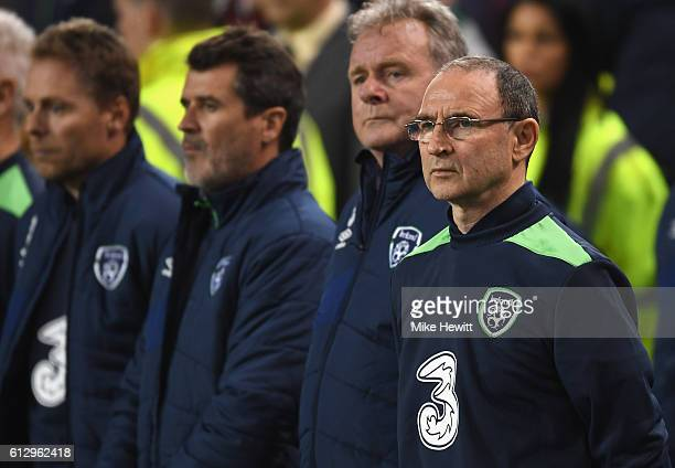Martin O'Neill Manager of Republic of Ireland looks on prior to the FIFA 2018 World Cup Group D Qualifier between Republic of Ireland and Georgia at...
