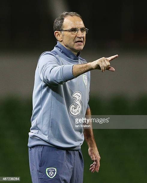Martin O'Neill manager of the Republic of Ireland points during the UEFA EURO 2016 Group D qualifying match between Republic of Ireland and Georgia...