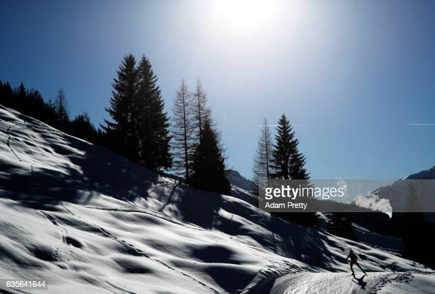 Martin Otcenas of Slovakia in action during the Men's 20km Individual competition of the IBU World Championships Biathlon 2017 at the Biathlon...