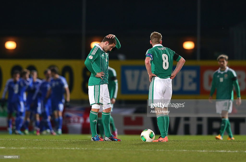 Martin Paterson of Northern Ireland looks dejected after Israel score the opening goal during the FIFA 2014 World Cup Group F Qualifier match between Northern Ireland and Israel at Windsor Park on March 26, 2013 in Belfast, Northern Ireland.