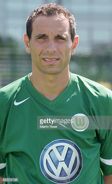 Martin Petrov poses during the team presentation of VFL Wolfsburg for the Bundesliga Season 2005 2006 on July 10 2005 in Wolfsburg Germany