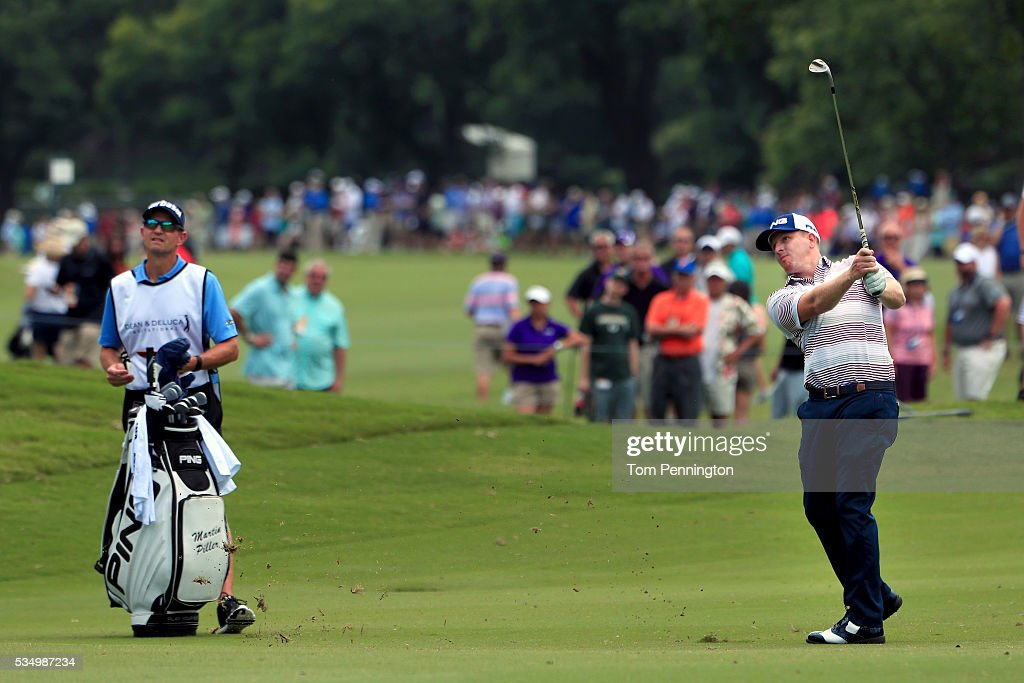 <a gi-track='captionPersonalityLinkClicked' href=/galleries/search?phrase=Martin+Piller&family=editorial&specificpeople=5745583 ng-click='$event.stopPropagation()'>Martin Piller</a> hits a shot on the second hole during the Third Round of the DEAN & DELUCA Invitational at Colonial Country Club on May 28, 2016 in Fort Worth, Texas.