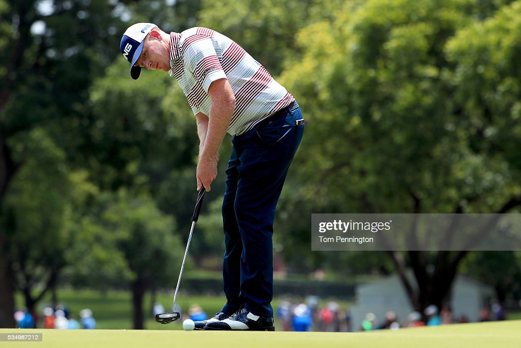 <a gi-track='captionPersonalityLinkClicked' href=/galleries/search?phrase=Martin+Piller&family=editorial&specificpeople=5745583 ng-click='$event.stopPropagation()'>Martin Piller</a> putts on the second green during the Third Round of the DEAN & DELUCA Invitational at Colonial Country Club on May 28, 2016 in Fort Worth, Texas.