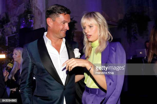 Martin Pos and supermodel and actress Karolina Kurkova during the Cybex Fashion Cocktail on September 5 2017 in Berlin Germany