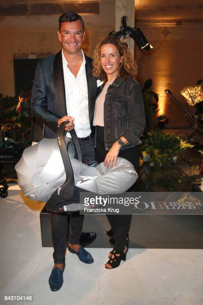 Martin Pos and Ulrike Beck during the Cybex Fashion Cocktail on September 5 2017 in Berlin Germany