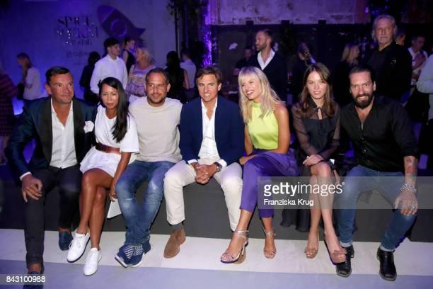Martin Pos MinhKhai PhanThi actor Moritz Bleibtreu Archie Drury his wife supermodel and actress Karolina Kurkova Anna K and Alec Voelkel during the...