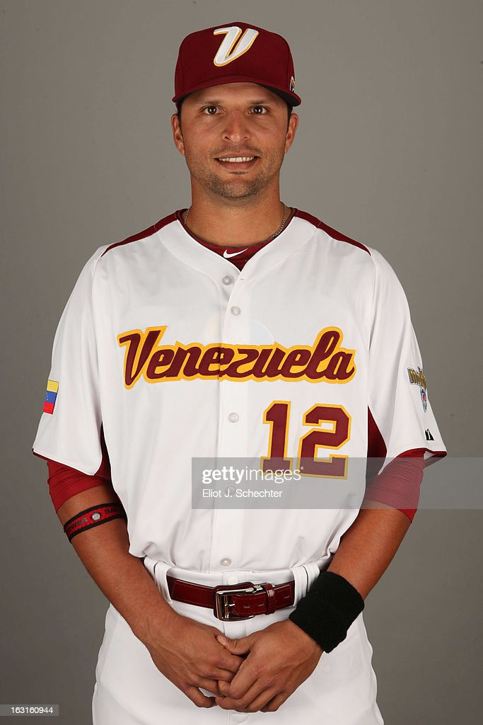 <a gi-track='captionPersonalityLinkClicked' href=/galleries/search?phrase=Martin+Prado&family=editorial&specificpeople=620159 ng-click='$event.stopPropagation()'>Martin Prado</a> #12 of Team Venezuela poses for a headshot for the 2013 World Baseball Classic at Roger Dean Stadium on Monday, March 4, 2013 in Jupiter, Florida.