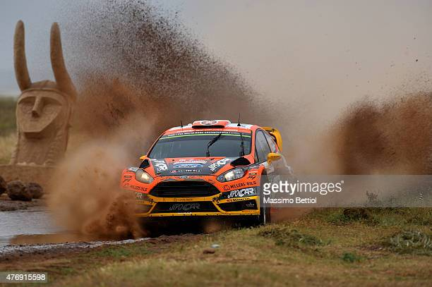 Martin Prokop of Czech Republich and Jan Tomanek of Czech Republich compete in their Jipocar Czech National Team Ford Fiesta RS WRC during Day One of...