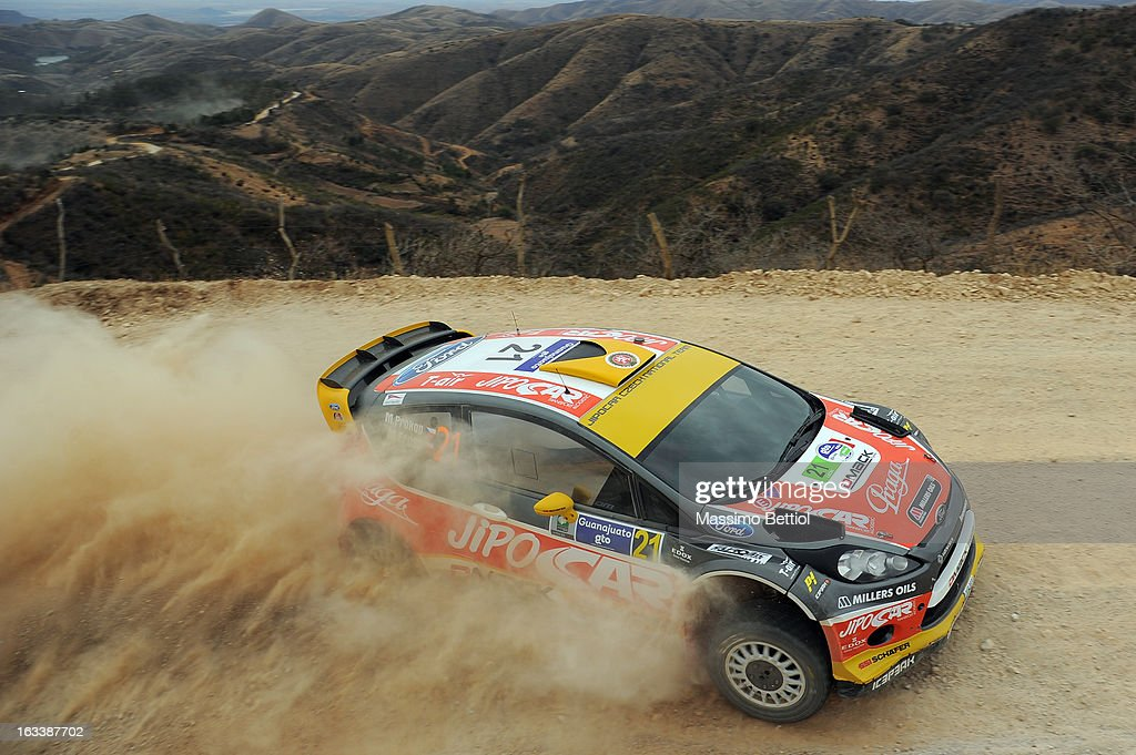 Martin Prokop of Czech Republich and Michael Ernst of Czech Republich compete in their Jipocar Czech National Team Ford Fiesta RS WRC during Day One of the WRC Mexico on March 08 , 2013 in Leon , Mexico.