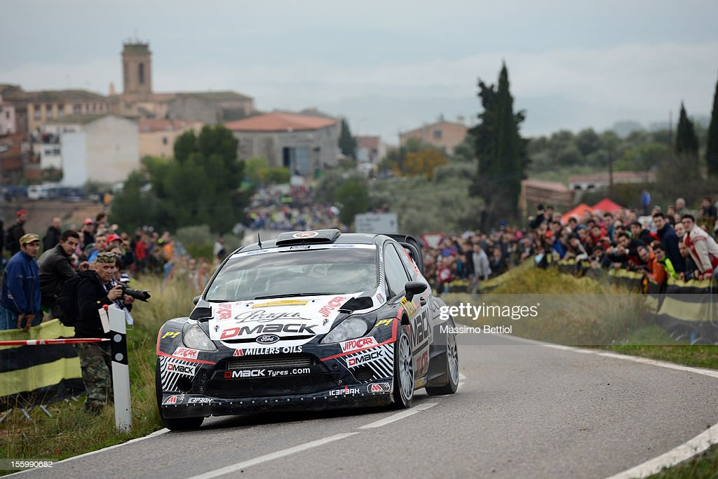 Martin Prokop of Czech Republich and Michal Ernst of Czech Republich compete in their Czech Ford National Team Ford Fiesta RS WRC during Day Two of the WRC Spain on November 10, 2012 in Salou , Spain.