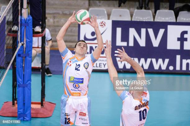Martin Repak of Nantes during the volleyball Ligue A match between Paris Volley and Nantes Reze at Salle Pierre Charpy on February 23 2017 in Paris...