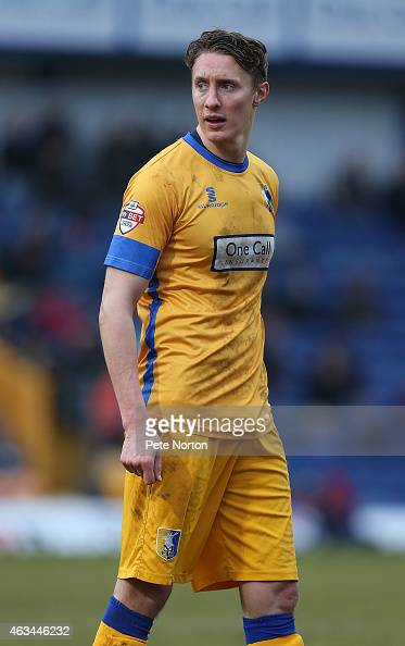 Martin Riley of Mansfield Town in action during the Sky Bet League Two match between Mansfield Town and Northampton Town at One Call Stadium on...