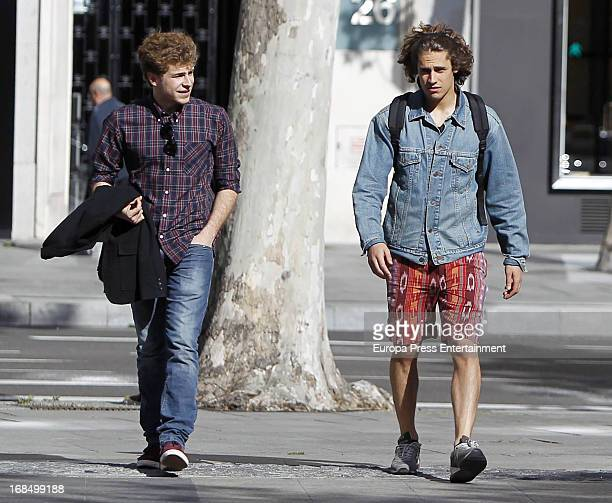 Martin Rivas and Alvaro Cervantes are seen on May 9 2013 in Madrid Spain