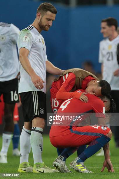 Martin Rodriguez Mauricio Isla of the Chile national football team reacts during the 2017 FIFA Confederations Cup final match between Chile and...