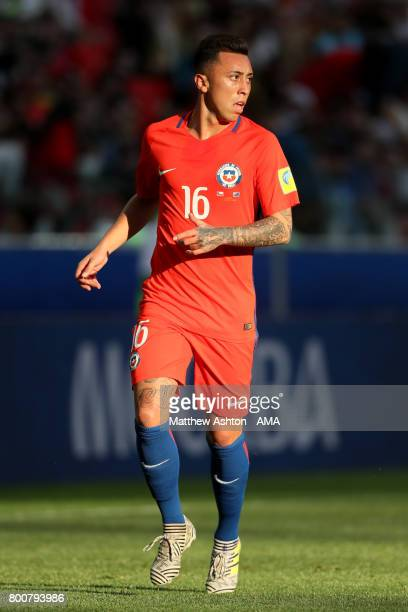 Martin Rodriguez of Chile in action during the FIFA Confederations Cup Russia 2017 Group B match between Chile and Australia at Spartak Stadium on...