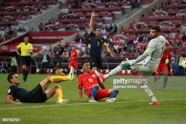 Martin Rodriguez of Chile scores a goal to make the score 11 during the FIFA Confederations Cup Russia 2017 Group B match between Chile and Australia...